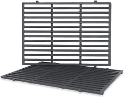 Cast Iron Cooking Grid Grates 18.7 2-pack For Weber Genesis Ii Lx 300 66095