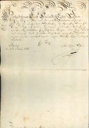 Frederick The Great Document Signed Ds Beckett Bas King Of Prussia 1765 Berlin