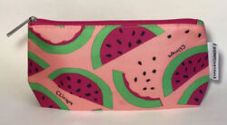 Clinique Cosmetic Bag Watermelon Toiletry Travel Case Makeup $2.89