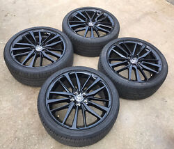 19 Toyota Camry 2021 Gloss Black Wheels Rims And Tires Oem Set 4 2018-2020