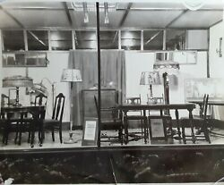 Vintage 1930and039s 8x10 Photo Of Furniture Display Window Lamps Dining Room Tables