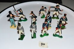 Lot 11 Marx Various French Soldiers Figures Rare 40