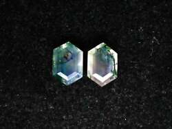 Natural Moss Agate Hexagon Faceted Cut Loose Gemstone 6mm To 10mm Aaa Quality