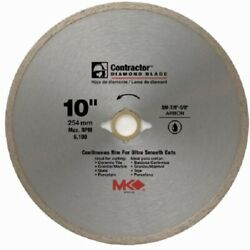 Mk Diamond, 2 Pack, 167031, 10, Continuous Rim Wet Cutting Tile Saw Blade