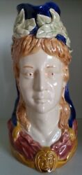 Pretty/old Majolica Onnaing French Figural Pitcher Of Marianne