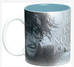 """Game Of Thrones Ceramic Mug """"you Know Nothing Jon Snow"""" Collectible"""