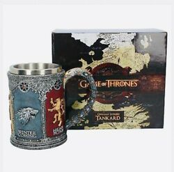 Game Of Thrones Official Hbo Merchandise - Sigil Tankard 14cm Brand New