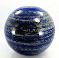 17.890 Kg Xxl Aaa Grade Lapis Lazuli With Pyrite Polished Healing Sphere-210mm