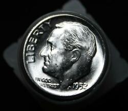 1952 Roosevelt Dime Bu Roll - 50 Uncirculated Coins -