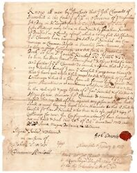 Stephen Sewall - Document Signed - Clerk Of Court At Salem Witch Trials Of 1692