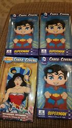 New Lot 4 Superman And Wonder Woman Chara Covers Iphone 4/4s Cell Phone Case