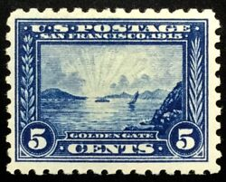 403 Mint Og Nh, Vf+ 1913 5c Pan-pacific Post Office Fresh And Sound