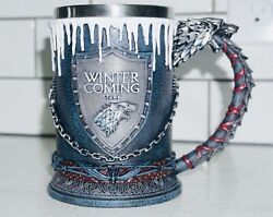 Game Of Thrones Official Hbo Merchandise Stark Tankard Winter Is Coming