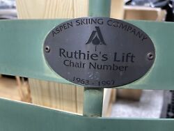 Price Reduction Vintage Aspen Colorado Skiing Co Ski Lift Chair Ruthieand039s Run