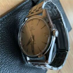 Omega Seamaster Antique Stainless Steel Analog Menand039s Wristwatch Japan Shipped