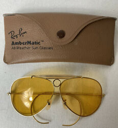 Ray-ban Wings Menand039s Aviator Sunglasses - Amber Matic Vintage B/l Case