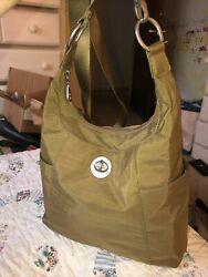 Baggallini Olive Hobo Cross Body W Inside Pouch And Turn Lock Pocket GG $40.00