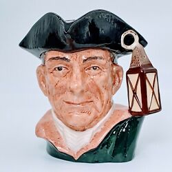 Night Watchman Character Jugs From Williamsburg Royal Doulton D6569 Large 7. Po