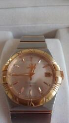 Omega Constellation 35mm Quartz Menand039s Analog Watch Swiss Made Japan Shipped
