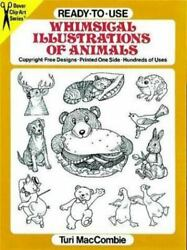 Ready-to-use Whimsical Illustrations Of Animals [dover Clip-art Series] [ Maccom