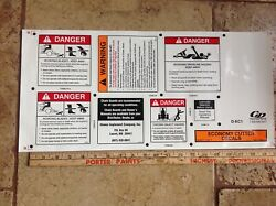 10 Each Danger Decal Sticker For Bush Hog Sheet Safety Is Worth It Today New