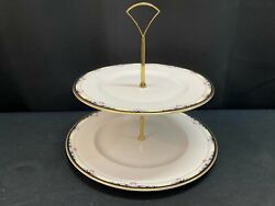 Royal Doulton Rhodes H5099 England 2 Tier Tidbit Tray Dinner And Lunch