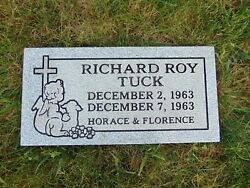 Cemetery Flat Marker 24x12x4 Sawn Sides Or Edges Includes Engraving
