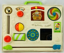 1973 Fisher Price Crib Busy Box Activity Center With Back Clamp Clean Great Cond