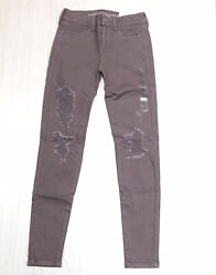 New American Eagle Jegging Jeans Low Rise Distressed Womens Super Stretch X Sz 4