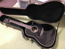 Takamine Tdp861c Bl 6 String Black Acoustic Guitar And Hard Case Japan Shipped