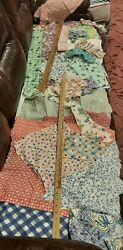 Vintage Feedsack Pieces Remnants Quilters Lot Floral Novelty 23 Different Prints