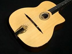 Aria Pro Mm-100 1956 Maccaferri Style Natural Acoustic Guitar Dot Inlays