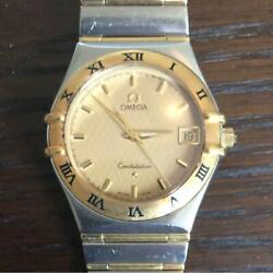 omega Constellation Ref.1212.10.00 Gold Dial Stainless Steel Menand039s Watch