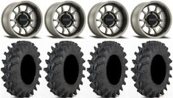 Method 409 14 Gy 5+2 Wheels 30x9.5 Outback Max Tires Pioneer 1000 / Talon