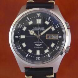 Citizen Seven Stars 21 Jewels Diver Black Dial Menand039s Watch Shipped From Japan