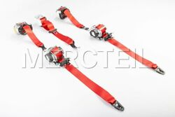Mercedes-benz Genuine Amg Front And Rear Red Seat Belts For C-class W205