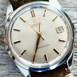 Omega Seamaster Automatic Mens 1968 Ref 166.010 Stainless Hodinkee Strap Vintage