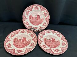 Johnson Brothers Old Britain Castles Pink  Set Of 3 Dinner Plates 10