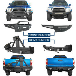 Steel Front / Rear Bumper Cover W/ D-rings For 2nd Gen Toyota Tacoma 2005-2015