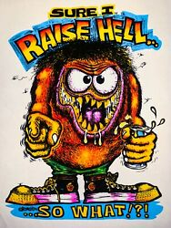 Vtg Rat Fink Hell Raiser Party Rats Hole Big Daddy Bdr Ed Roth T-shirt Iron On