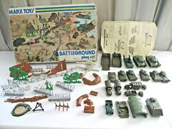 1960-70s, Marxs Toys, Battleground Play Set, 4756, Incomplete, Many Extras,