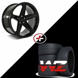20 Gloss Black Wheels W/tires Fits Dodge Charger Challenger Magnum