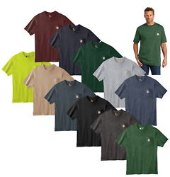 Mens T-shirt Workwear K87 Pocket Basic Heavyweight Jersey Knit Top Tee