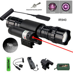Red Dot Laser Sight And Infrared Zoom Flashlight Ir 940nm/850nm Night Vision Light