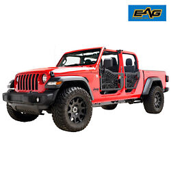 Eag Spider Web Tubular Door With Side Mirror Pair Fit For 20-21 Jeep Gladiator