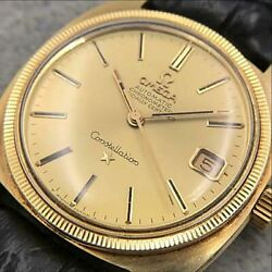omega Constellation Cal.564 Automatic Gold Dial Stainless Steel Menand039s Watch
