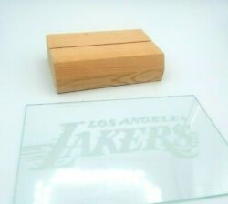 La Lakers Etched Glass Plaque Signed Wooden Base Los Angeles Lakers Basketball