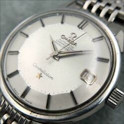 omega Constellation Pie Pan Cal.561 Automatic Silver Stainless Steel Men Watch