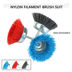 Cup Nylon Wire Brush Grinding Wheel 6mm Handle For Metal Drilling Polishing Tool