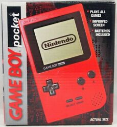 Nintendo Game Boy Pocket Red Handheld Console Box Only